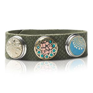 Noosa Unisex Armband ohne Chunk SNAKE grün, Größe:S