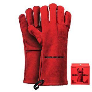 Feuermeister 50173615B Grillhandsschuhe, Leder, Größe 10, rot (1 Paar)