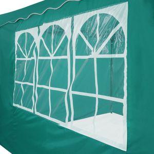 AREBOS Faltpavillon Popup Partyzelt Gartenzelt 3x3m mit 4 Seitenteilen grün- direkt vom Hersteller