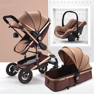 Kinderwagen 3 in1 Kombi Komplettset Buggy Babywanne Babyschale Autositz -Khaki