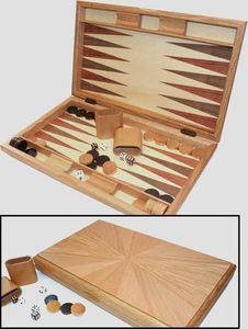 Philos 1126 - Milos, Backgammon, große Kassette mit Magnetverschluss 4014156011267