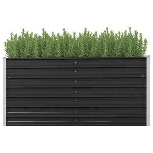Garten-Hochbeet Anthrazit 160 x 40 x 77 cm Verzinkter Stahl