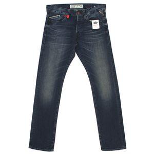 18433 Replay, Waitom Regular Slim,  Herren Jeans Hose, Stretchdenim, blue used, W 30 L 34