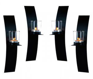 4 Wandkerzenhalter LED Teelichter Wand Kerzenhalter Wandleuchter Kerze Metall