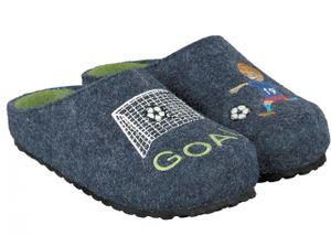 Supersoft Jungen Schuhe 542-277 Pantoffeln Clogs Hausschuhe Fußball Goal Navy