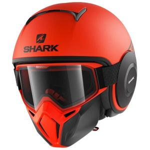 SHARK Jet Drak Street Helm - Neon, schwarz und orange