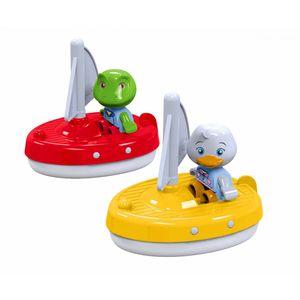 Aquaplay 254 Frosch Nils und Ente Lotta, 2 Figuren