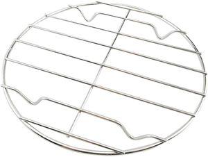 delstahl Grillrost Rund Abkühlgitter Backgitter Kuchengitter zum Keksen Braten Kuchen Räuchern Grillen Auskühlen 20 cm