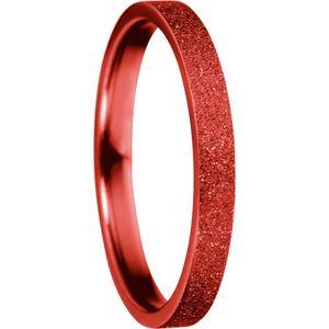 Bering Innenring schmal Edelstahl Sparkling-Effect rot 557-49-X1, Bering Größe Innenring:10 (U=68mm / Ø=21.6mm)