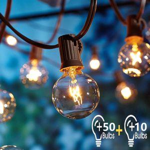 OxyLED G40 Lichterkette Garten 16 Meter, 50 Birnen