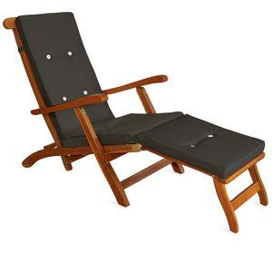 Deckchair Liegestuhl - Queen Mary + Auflage anthrazit