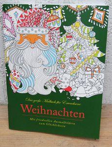 Das grosse Malbuch für Erwachsene Motiv:  Weihnachten / Weihnachtsmalbuch
