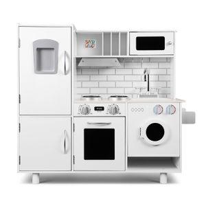 Baby Vivo Kinderküche Spielküche aus Holz - Bruno in Weiß
