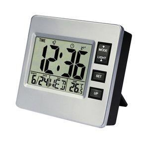 Digitaler Wecker Uhr Funkwecker Tischuhr mit Schlummerfunktion, Kalender und Temperaturanzeige für Zuhause, Schlafzimmer, Kinderzimmer und Büro