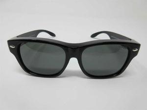 Sonnenbrille für Brillenträger 100%UV CAT3 schwarz polarisierende Überbrille