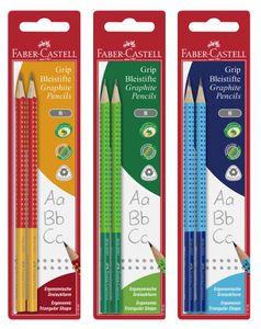 FABER-CASTELL Bleistift GRIP 2001 TWO TONE zufällige Farbe 2 Bleistifte