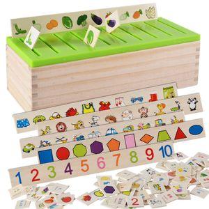 Mathematische Wissensklassifikation Kognitive Passende Kinder Montessori Frühe Bildung Lernspielzeug, Holzkiste