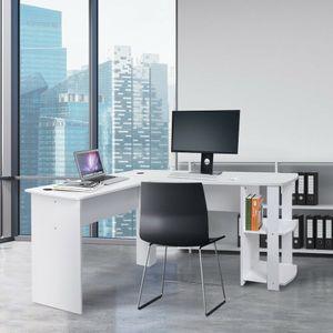 Eckschreibtisch Computer Schreibtisch Bürotisch L-Form Winkelkombination Regal PC Tisch Arbeitstisch