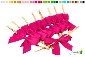Satinschleifen 5cm, 10 Stück, Farbauswahl:fuchsia / pink 187