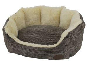 """Nobby Komfort Bett oval """"OTI"""" braun L x B x H: 86 x 70 x 24 cm, 60780"""