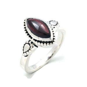 Granat Ring 925 Silber Sterlingsilber Damenring rot (MRI 134-02),  Ringgröße:54 mm / Ø 17.2 mm