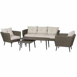 Gartenmöbel Gruppe Siena Garden Lounge-Set Vertigo 5-tlg Polyrattan