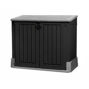Keter Universalbox Store It Out MIDI Woodland, ca. H 110 x B 132 x T 74 cm, Farbe: Schwarz