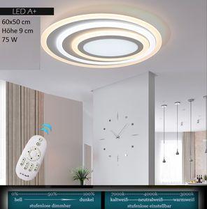 LED Deckenleuchte XW091 mit Fernbedienung Lichtfarbe/helligkeit einstellbar Acryl-Schirm A+,LED Wohnzimmerleuchte Kronleuchte Pendelleuchte Deckenlampe Deckenstrahler led Deckenleuchte