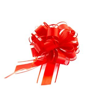 Oblique Unique Geschenkschleife Deko Schleife für Geschenke Tüten Zuckertüte Weihnachten Geschenkdeko - rot
