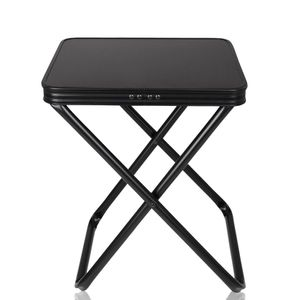yourGEAR Tavolino 3D Hocker mit abnehmbarer Tischplatte, Aluminium Klapphocker mit Quick Dry 3D Mesh Polsterung