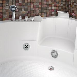 Whirlpool Pool Badewanne Eckwanne Wanne A1505N-ALL 140x140cm Reinigungsfunktion aktive Schlauch-Reinigung +90.-€ mit Radio+Farblicht +50.-€
