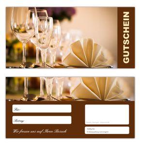 100 Geschenkgutscheine (Gastro-665) - Ein schönes Produkt für Ihre Kunden Gutscheine Gutscheinkarten für Bereiche wie Gastronomie, Restaurant, Weinhandel, Getränkehandel, Freizeit, Wellness, Feier, Geschenk, Gaststätte und vieles mehr
