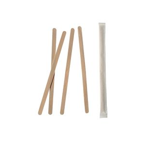 10000 Biologisch abbaubare und nachhaltige Rührstäbchen, Holz  pure  11 cm x 5 mm einzeln gehüllt