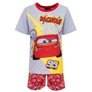 Disney Cars Shorty Pyjama, grau-rot, Gr. 98-128 Größe - 6 Jahre