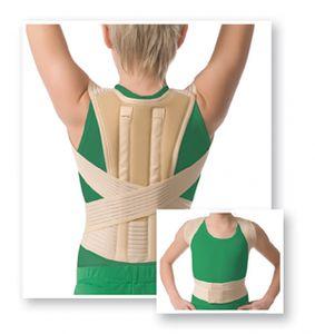 Kinder Reklinator Körperhaltungs-Korrektor Rücken-Halter Stütze Gurt 2005 S beige