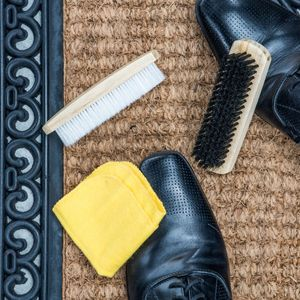 3-tlg. Schuhputz Set Schuhpflege Schuhbürsten Lederpflege Schuhpflegeset