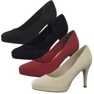 Tamaris Damen Schuhe Pumps Plateau 1-22403-25, Größe:39 EU, Farbe:Schwarz