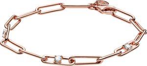 Pandora Colours Armband 589177C01 Link Chain And Stones Bracelet Rose Klare Zirkonia 18