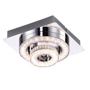 LED Deckenleuchte, Kristall, Chrom, verstellbar, L17 cm