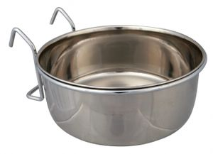 Trixie Edelstahlnapf mit Halter 600 ml