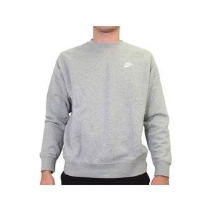 Nike M Nsw Club Crw Bb Dk Grey Heather/White Xl