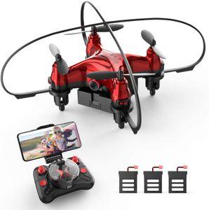 HolyStone HS410 Mini Drohne mit 3 Batterien,Rot