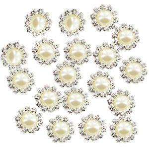 20x Großhandel Diamante Pearl Flatback