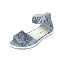 Waldläufer Hakura Damen Sandale in Blau, Größe 6