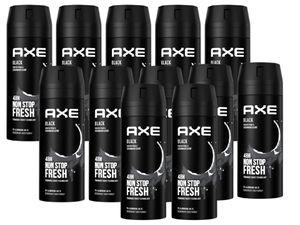 AXE Bodyspray Black Deo ohne Aluminiumsalze Deodorant im 12er Set Deospray Männer Herren Men 12x 150ml