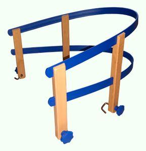 Colint Schlittenlehne aus Kunststoff und Holz Rückenlehne Schlitten Kindersitz, Farbe:blau