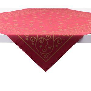 Sovie HORECA Tischdecke Liam in Bordeaux aus Linclass® Airlaid 80 x 80 cm, 20 Stück - Ornamente Sterne Weihnachten