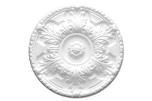 1 Rosette | Decke | Innendekor | Stuck | EPS | Nachbildung | 40cm | R-2, Farbe:weiß