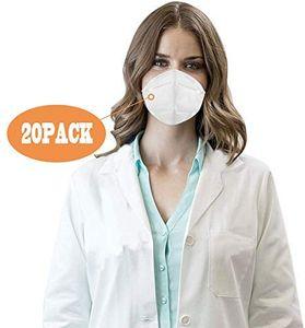 KN95 Medizinische Gesichtsmasken, multifunktionale Schutzmaske mit Nasenklammer, 20 Stück
