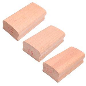 3Stk. Schleifblock für Gitarre, Bass, Griffbrett, 12 / 14 / 16cm